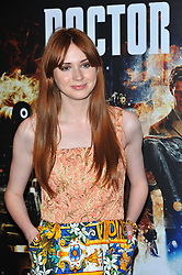 Karen Gillan arrives for the 'Doctor Who: Asylum of the Daleks' TV Preview and Q&A held at the BFI Southbank London, Tuesday August 14, 2012. Photo by i-Images