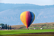 inflated Hot air balloon. Photographed in israel