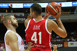 September 17, 2018 - Gdansk, Poland - Ante Zizic (41) of Croatia in action is seen in Gdansk, Poland on 17 September 2018  Poland faces Croatia during the Basketball World Cup China 2019 Qualifiers game in the ERGO Arena sports hall in Gdansk  (Credit Image: © Michal Fludra/NurPhoto/ZUMA Press)