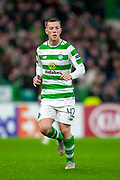 Callum McGregor (#42) of Celtic FC during the Europa League group stage match between Celtic and RP Leipzig at Celtic Park, Glasgow, Scotland on 8 November 2018.