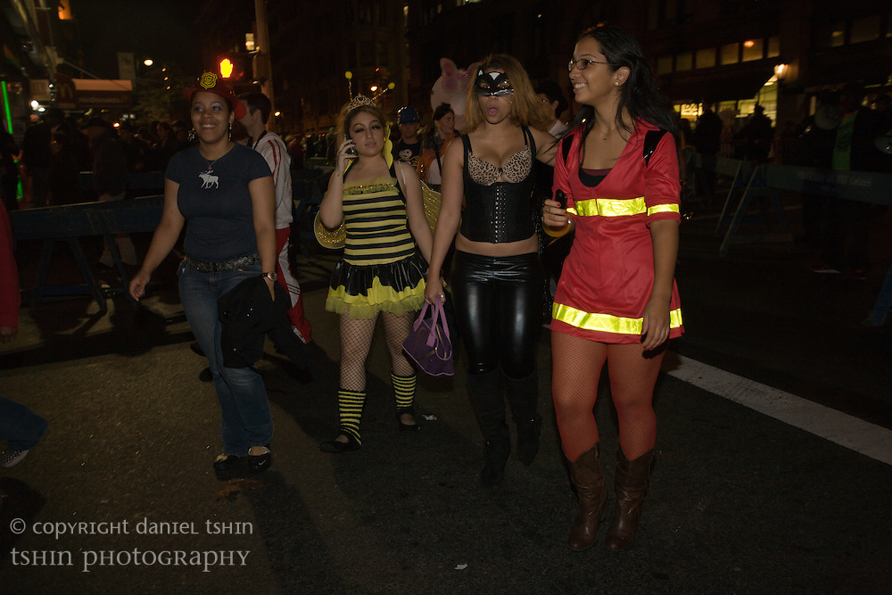 Girls dressed up