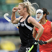 DEN HAAG - Rabobank Hockey World Cup<br /> 36 New Zealand - China<br /> Foto: Anita Punt scores.<br /> COPYRIGHT FRANK UIJLENBROEK FFU PRESS AGENCY