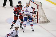 Amerks forward Alex Guptill looks for a pass in the offensive zone during a game against the Springfield Falcons at the Blue Cross Arena in Rochester on Friday, March 4, 2016.