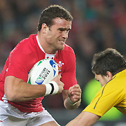 Jamie Roberts, Wales, in action during the Australia V Wales Bronze Final match at the IRB Rugby World Cup tournament, Auckland, New Zealand. 21st October 2011. Photo Tim Clayton...