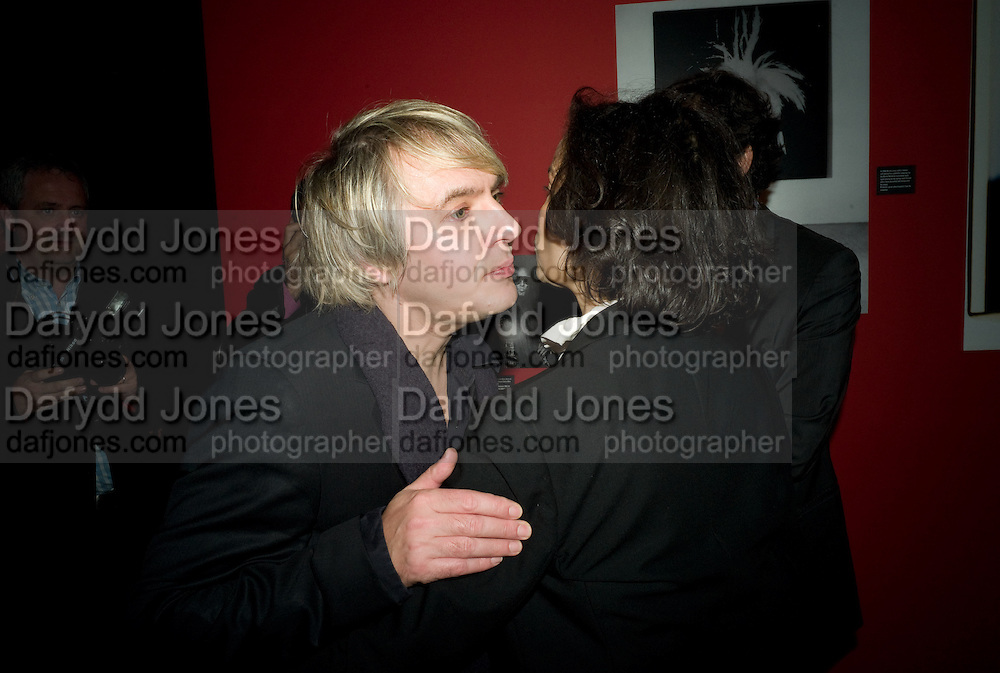 Nick Rhodes; Bianca Jagger;  ANDY WARHOL: OTHER VOICES, OTHER. ROOMS.  The Hayward Gallery. Southbank. 6 October 2008 *** Local Caption *** -DO NOT ARCHIVE-© Copyright Photograph by Dafydd Jones. 248 Clapham Rd. London SW9 0PZ. Tel 0207 820 0771. www.dafjones.com.