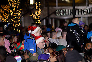 The crowd gathers around the tree and waits for the countdown during the Grande Illumination & Dayton Children's Parade Spectacular in Lights which begins the 39th Annual Dayton Holiday Festival in Courthouse Square in downtown Dayton, Friday, November 25, 2011.