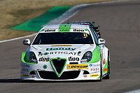 #11 Rob Austin Duo Motorsport with HMS Alfa Romeo Giulietta during BTCC Practice  as part of the Dunlop MSA British Touring Car Championship - Rockingham 2018 at Rockingham, Corby, Northamptonshire, United Kingdom. August 11 2018. World Copyright Peter Taylor/PSP. Copy of publication required for printed pictures.
