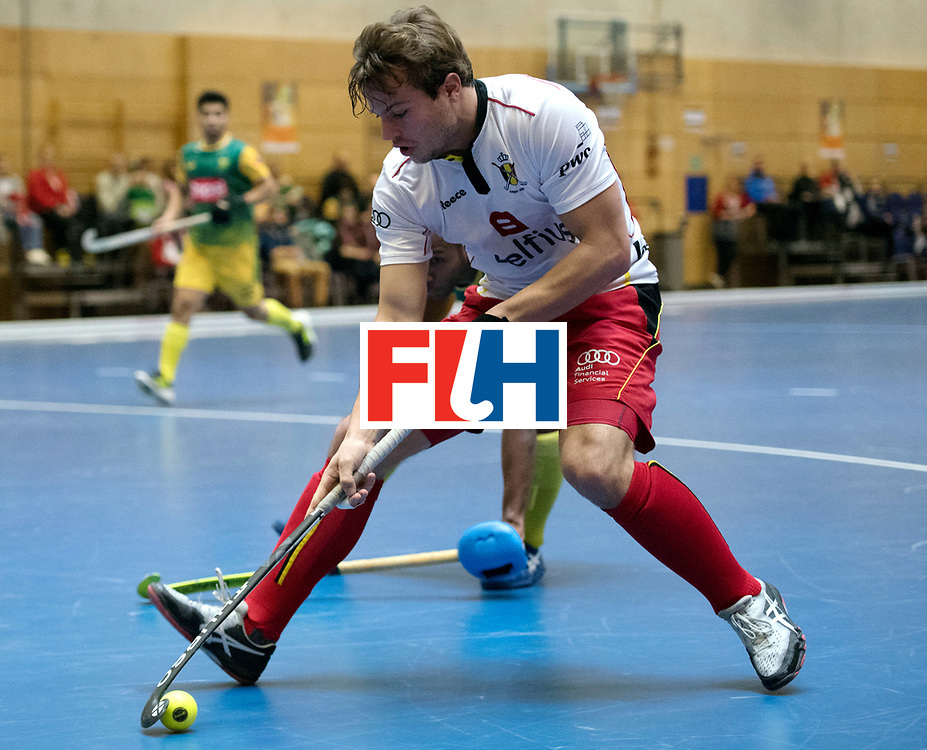 BERLIN - Indoor Hockey World Cup<br /> South Africa - Belgium<br /> foto: Maxime Plennevaux <br /> WORLDSPORTPICS COPYRIGHT FRANK UIJLENBROEK
