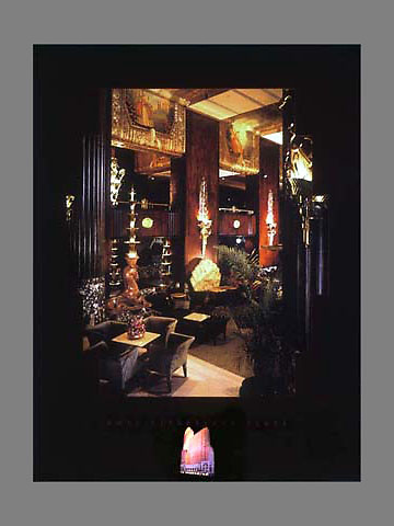 Signed and numbered 19x24 poster of the interior of Palm Court at Netherland Plaza in Cincinnati