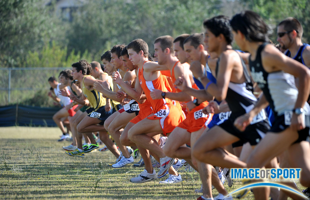 "Sep 6, 2008; Irvine, CA, USA; The start of the mens ""A"" race in the UC Irvine Invitational at the Anteater Recreation Center Fields."