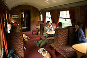 Steam train through the Yorkshire Dales, England, UK