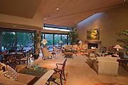 Interior of a luxury living room of villa
