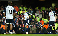 Photo: Chris Ratcliffe.<br />Chelsea v Tottenham Hotspur. The Barclays Premiership. 11/03/2006.<br />Spurs players are gutted by the result.