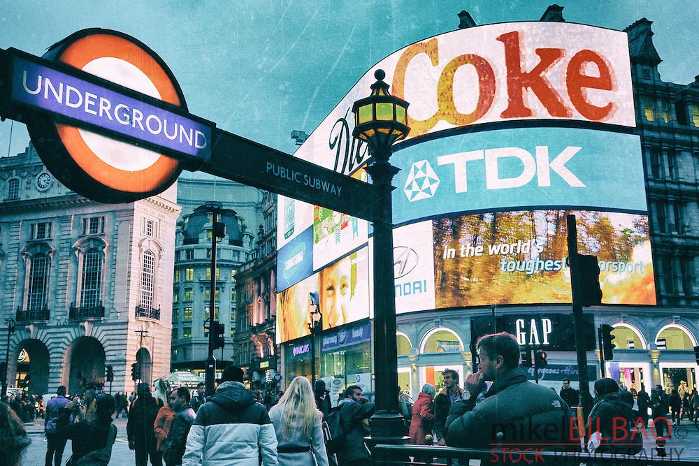 Picadilly Circus. London, England, United kingdom, Europe.