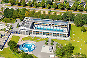 Nederland, Utrecht, Utrecht, 23-08-2016; Zwembad De Krommerijn.-<br /> Swimming pool.<br /> aerial photo (additional fee required);<br /> copyright foto/photo Siebe Swart