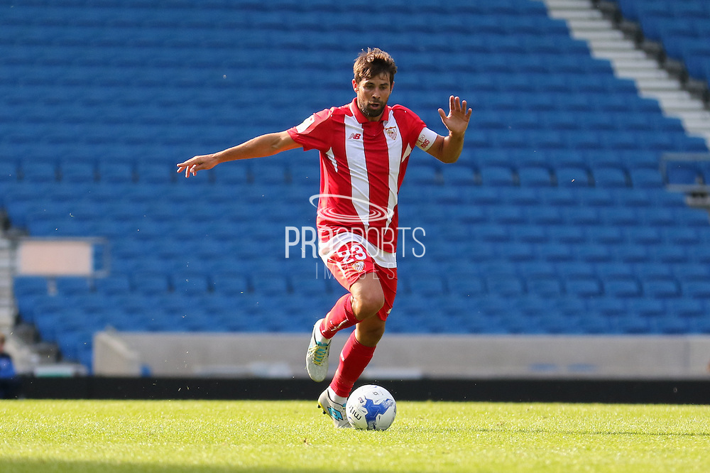 Coke of Sevilla during the Pre-Season Friendly match between Brighton and Hove Albion and Sevilla at the American Express Community Stadium, Brighton and Hove, England on 2 August 2015. Photo by Ellie Hoad.