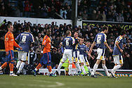 Cardiff city players celebrate their first goal scored by Ross McCormack (centre). FA Cup, 3rd round match, Cardiff City v Reading at Ninian Park, Cardiff on Sat 3rd Jan 2009. .pic by Andrew Orchard, Andrew Orchard sports photography