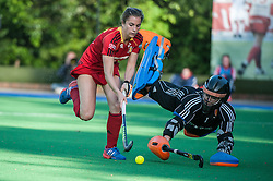 England's Maddie Hinch. England v Belgium, Bisham Abbey, Marlow, UK on 09 May 2014. Photo: Simon Parker
