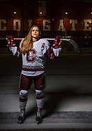 Photos by Mark DiOrio / Colgate University<br /> Portrait of Livia Altmann '19, Colgate Raiders defense hockey player, Apr. 28, 2017 in Hamilton, N.Y.