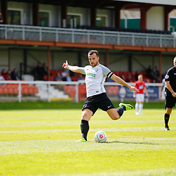 AUGUST 12:  Dover Athletic against Wrexham in Conference Premier at Crabble Stadium in Dover, England. Dover's midfielder Mitch Brundle take a free kick. (Photo by Matt Bristow/mattbristow.net)