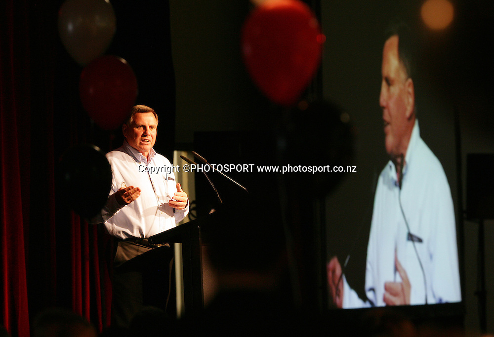 Vodafone Warriors director of football John Hart at the pre match dinner function prior to the start of the match between the Vodafone Warriors and the Penrith Panthers at Mt Smart Stadium, Auckland on Friday 22 June 2007. Photo: Andrew Cornaga/PHOTOSPORT <br />