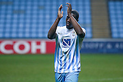 Coventry City forward Marvin Sordell (17)  applauds the fans during the The FA Cup match between Coventry City and Morecambe at the Ricoh Arena, Coventry, England on 15 November 2016. Photo by Simon Davies.