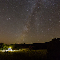 We found a pretty amazing campsite right under the Milky Way.