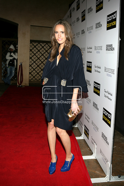 9th February 2009, Beverly Hills, California. Louise Roe arrives at Bondi Blonde's Style Mansion International Party, which was hosted by singer Katy Perry. PHOTO © JOHN CHAPPLE / REBEL IMAGES.tel: +1-310-570-910