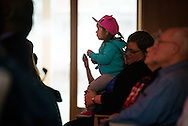 A young girl watches as  'Old School' performs at the Stadthaus on Saturday, May 2, 2015, in Wittenberg, Germany. LCMS Communications/Erik M. Lunsford