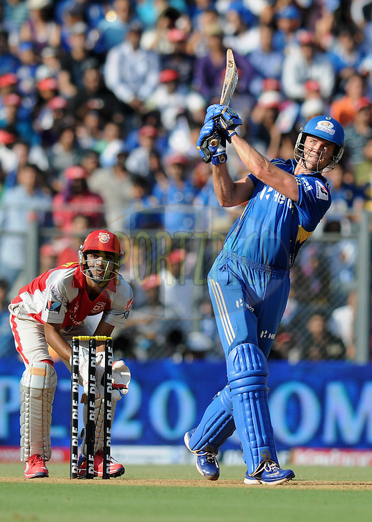 James Franklin of Mumbai Indians bats during match 28 of the Indian Premier League ( IPL) 2012  between The Mumbai Indians and the Kings X1 Punjab held at the Wankhede Stadium in Mumbai on the 22nd April 2012..Photo by Pal Pillai/IPL/SPORTZPICS..