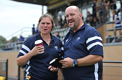 Bristol Bears Women head coach Kim Oliver and Pete Reakes of Bristol Bears Women - Mandatory by-line: Paul Knight/JMP - 02/09/2018 - RUGBY - Shaftsbury Park - Bristol, England - Bristol Bears Women v Dragons Women - Pre-season friendly