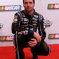 Driver Jimmie Johnson poses during the NASCAR Media Day event at Daytona International Speedway on Thursday, February 14, 2013 in Daytona Beach, Florida.  (AP Photo/Alex Menendez)