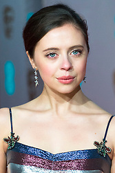© Licensed to London News Pictures. 14/02/2016. London, UK.  BEL POWLEY arrives on the red carpet at the EE British Academy Film Awards 2016 Photo credit: Ray Tang/LNP