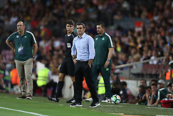 August 7, 2017 - Barcelona, Spain - Head coach Ernesto Valverde of FC Barcelona during the 2017 Joan Gamper Trophy football match between FC Barcelona and Chapecoense on August 7, 2017 at Camp Nou stadium in Barcelona, Spain. (Credit Image: © Manuel Blondeau via ZUMA Wire)