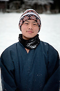(En) January 2010 - Koyasan, Japan.   Ryushu, 23, young monk at the Dai Garan. (Fr) Janvier 2010 - Koyasan, Japon. Ryushu, 23 ans, jeune moine de l'enceinte sacree du Dai Garan.