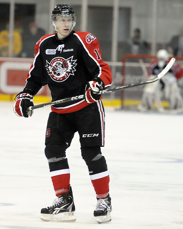 Michal Cajkovsky of the Ottawa 67's. Photo by Aaron Bell/OHL Images