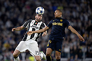 &copy; Filippo Alfero<br /> Juventus-Monaco, Champions League 2016/2017<br /> Torino, 09/05/2017<br /> sport calcio<br /> Nella foto: Andrea Barzagli Juventus, Kylian Mbappe Monaco