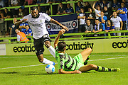 Eastleigh's Réda Johnson(27) gets the better of Forest Green Rovers Darren Carter (12) during the Vanarama National League match between Forest Green Rovers and Eastleigh at the New Lawn, Forest Green, United Kingdom on 13 September 2016. Photo by Shane Healey.
