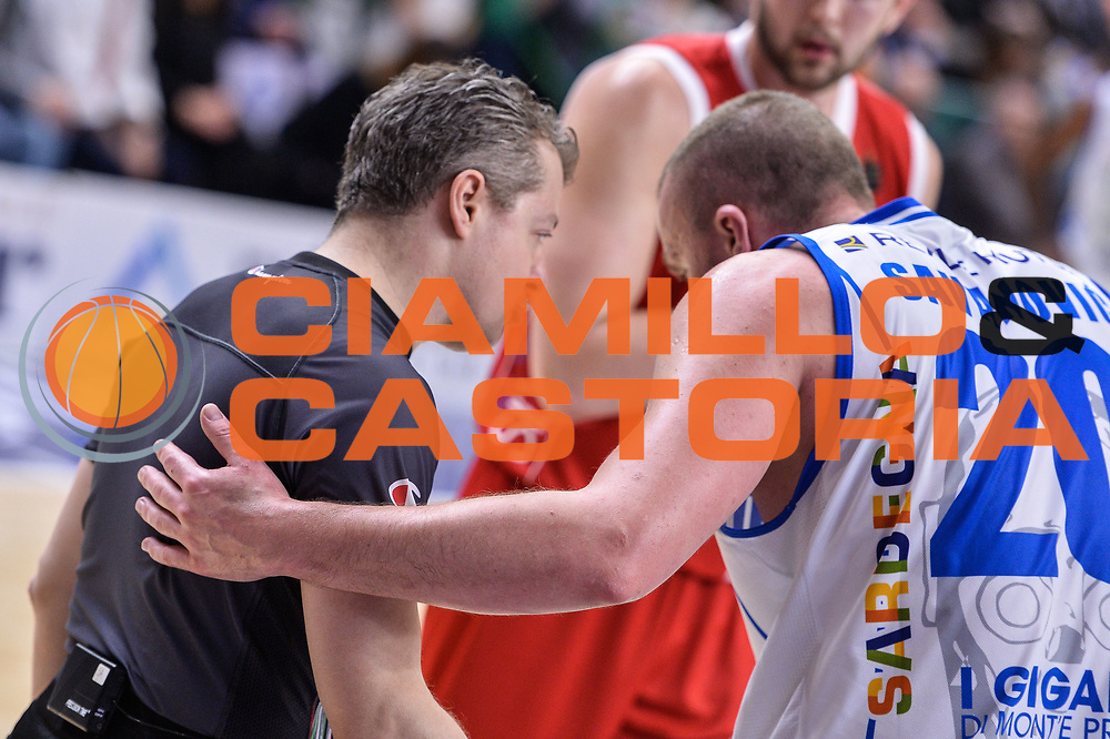 Alessandro Martolini, Dusko Savanovic<br /> Banco di Sardegna Dinamo Sassari - The Flexx Pistoia Basket<br /> Legabasket Serie A LBA Poste Mobile 2016/2017<br /> Sassari 04/03/2017