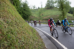 Sandra Alonso Dominguez (ESP) of Bizkaia-Durango Cycling Team descends on Stage 3 of 2019 Emakumeen Bira, a 98 km road race from Murgia to Santa Teodosia, Spain on May 24, 2019. Photo by Balint Hamvas/velofocus.com