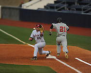 Ole Miss's Sikes Orvis (24) vs. Arkansas State at Oxford-University Stadium in Oxford, Miss. on Wednesday, March 27, 2013.