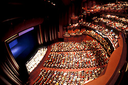 Stock photo of the interior of the Hobby Center in Houston Texas