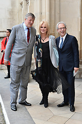 © Licensed to London News Pictures. 07/06/2017. London, UK. STEPHEN FRY, JOANNA LUMLEY and BEN ELTON attends a service of Thanksgiving for the life and work of RONNIE CORBETT at Westminster Abbey. The entertainer, comedian, actor, writer, and broadcaster was best known for his long association with Ronnie Barker in the BBC television comedy sketch show The Two Ronnies. Photo credit: Ray Tang/LNP
