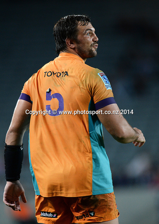Francois Uys. Blues v Cheetahs. Investec Super Rugby Season. Eden Park, Auckland, New Zealand. Saturday 22 March 2014. Photo: Andrew Cornaga/Photosport.co.nz