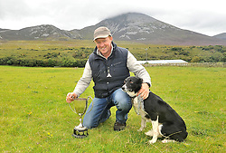 Bartley O'Malley with his dog Sweep from Louisburgh were the winners of the Sheepdog Trials at the Murrisk Pattern day on sunday last.<br /> Pic Conor McKeown