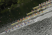 2006 FISA World Cup, Lucerne, SWITZERLAND, 07.07.2006. Men's Eights Bottom to top ITA M8+, NED M8=, ROM M8+,  SUI M8+, Photo  Peter Spurrier/Intersport Images email images@intersport-images.com.[Friday Morning]....[Mandatory Credit Peter Spurrier/Intersport Images... Rowing Course, Lake Rottsee, Lucerne, SWITZERLAND.