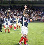 Fabian Caballero salutes the Dundee support at the end  - Crystal Palace v Dundee - Julian Speroni testimonial match at Selhurst Park<br /> <br />  - &copy; David Young - www.davidyoungphoto.co.uk - email: davidyoungphoto@gmail.com