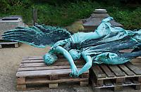 Depot for unwanted statues, Middleheim Sculpture park, Antwerp, Belgium