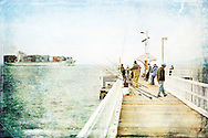 Point Lonsdale fishing<br /> (limited edition of 40)<br /> 1.5M x 1M