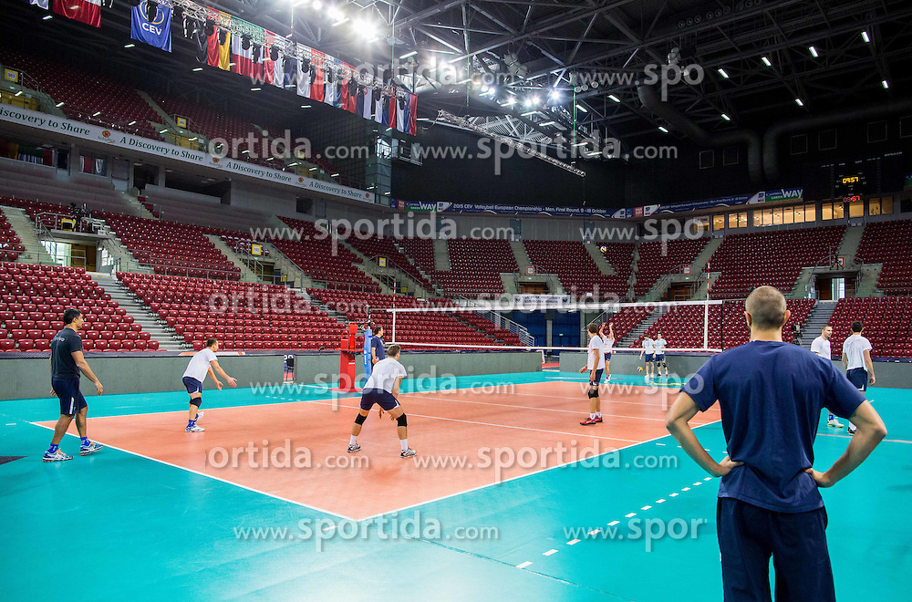 Practice session of Slovenian National Volleyball team in the morning before Semifinal match against Italy at 2015 CEV Volleyball European Championship - Men, on October 17, 2015 in Arena Armeec, Sofia, Bulgaria. Photo by Vid Ponikvar / Sportida